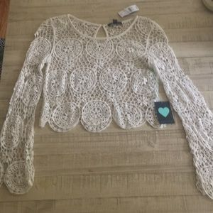 Kendall and Kylie crocheted top
